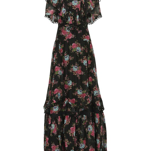 Mauricia cotton and silk long dress