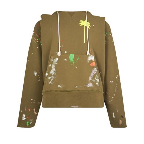 Palm Angels Hoodies PAINTED RAW HOODY