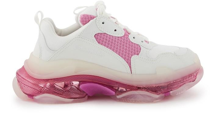 발렌시아가 트리플S 클리어 솔 스니커즈 - 화이트/핑크 Balenciaga Triple S Clear Sole trainers