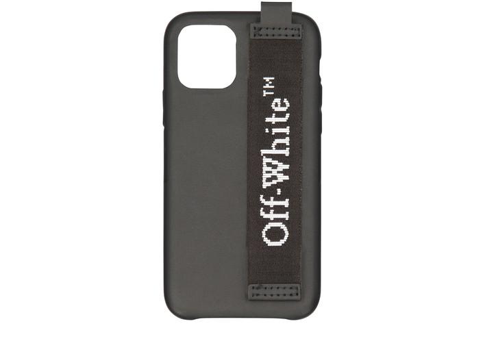 오프화이트 아이폰11 프로 케이스 - 인더스트리얼 룩 Off-White Logo phone case,black/white