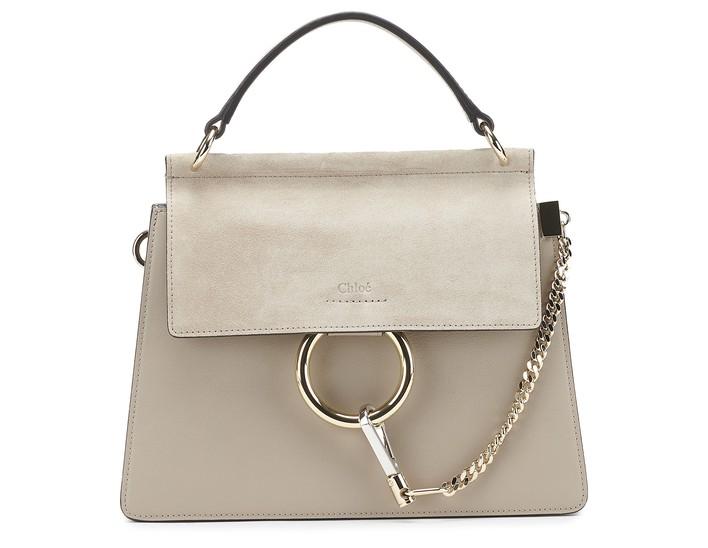 끌로에 Chloe Faye shoulder bag,motty grey