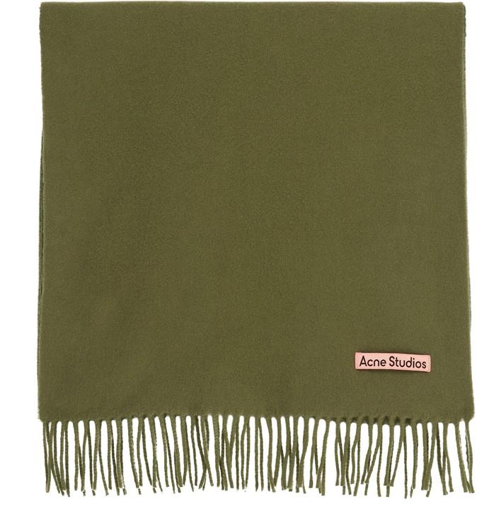아크네 스튜디오 캐나다 울 머플러, 내로우 - 헌터 그린 Acne Studios Canada Narrow wool scarf,hunter green