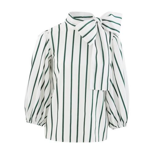 Chemise à lavallière rayée
