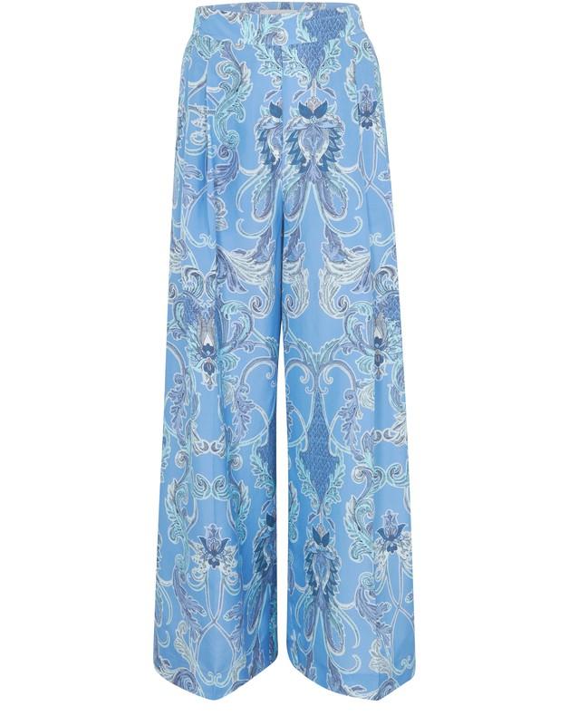 씨 바이 끌로에 See by Chloe Silk pants,multicolor blue 2