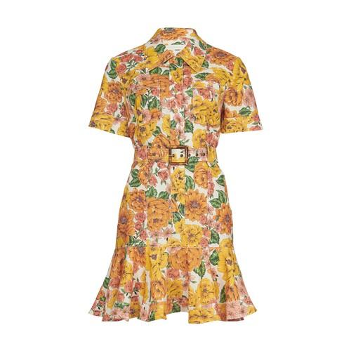 포피 벨티드 미니 드레스