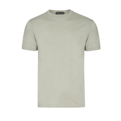 Tom Ford Crewneck Regular-fit Jersey T-shirt In Green