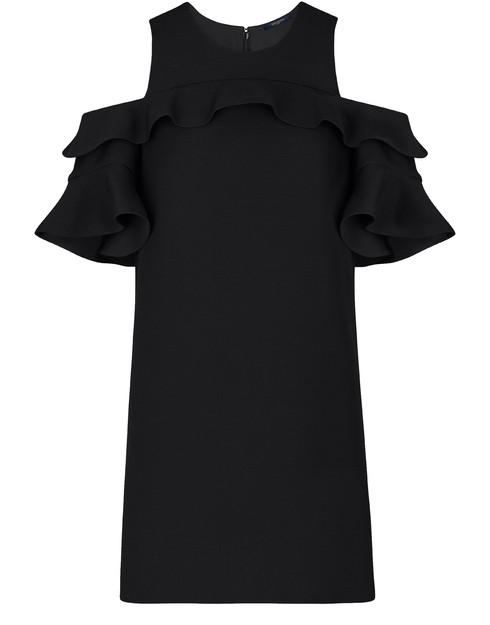 Louis Vuitton Ruffle Dress In Black
