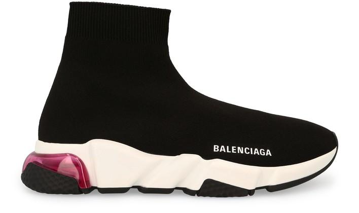 발렌시아가 스피드러너 여성용 - 클리어솔 핑크 Balenciaga Speed LT trainers,blac/white/pink/blac