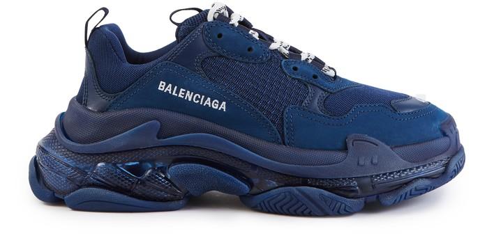 발렌시아가 트리플S 클리어 솔 스니커즈 - 네이비 Balenciaga Triple S Clear Sole trainers,vy