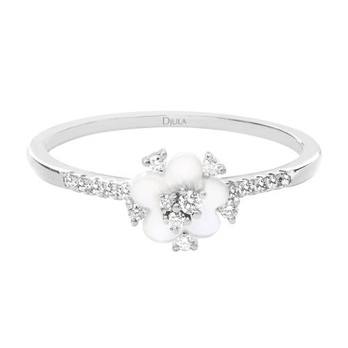 Djula Cherry Blossom Ring In Metallic