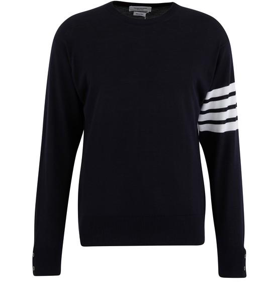 Men's 4-Bar jumper in merino wool | THOM BROWNE | 24S