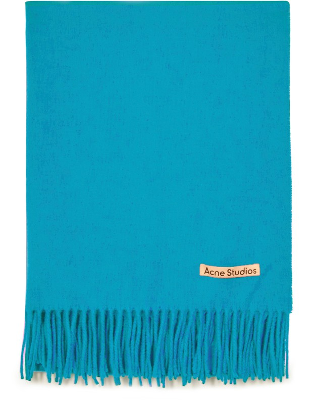 아크네 스튜디오 Acne Studios Canada New scarf,teal blue