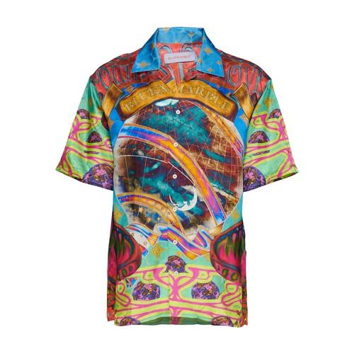 Trippy short-sleeved shirt