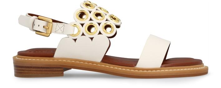 씨 바이 끌로에 See by Chloe Steffi eyelet sandals,natural