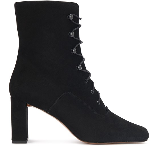 By Far Suedes CLAUDE LACED ANKLE BOOTS