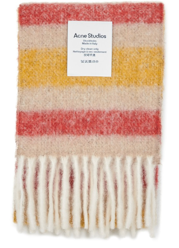 아크네 스튜디오 Acne Studios Vivianne scarf,beige/red/yellow