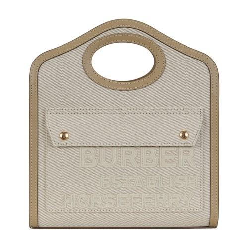 Burberry Pocket Bag In Gray