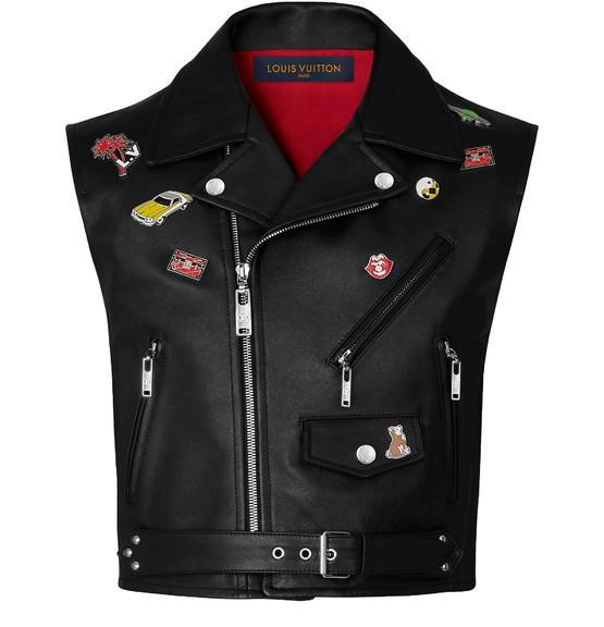 Louis Vuitton Calfskin Vest With Pins In Black