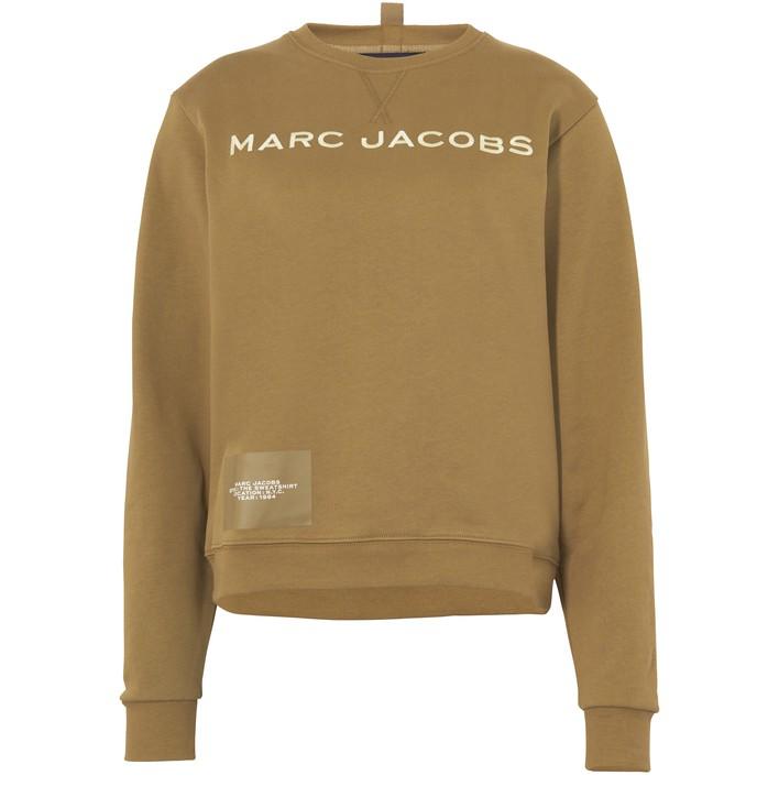 마크 제이콥스 우먼 로고 맨투맨 - 슬레이트 그린 MARC JACOBS The Sweatshirt MCJ23RXPPIN