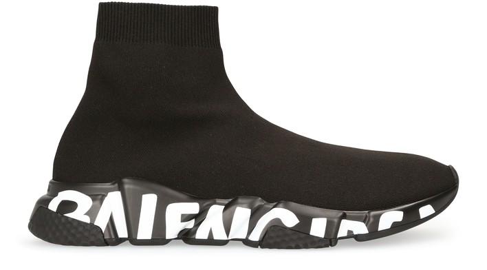 발렌시아가 스피드러너 그래피티 - 블랙 화이트 Balenciaga Speed Graffiti Sneaker