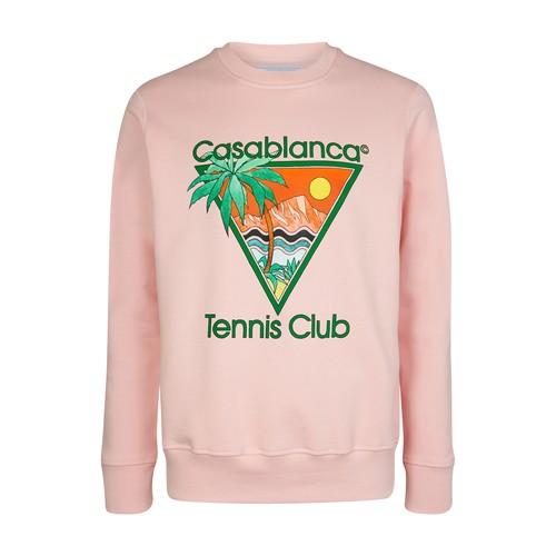 Casablanca Sweatshirts TENNIS CLUB ICON SCREEN SWEATSHIRT