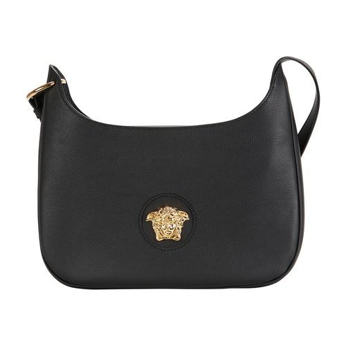 Versace Handbag In Black  Gold