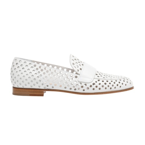 Gianvito Rossi Thierry Loafers In White