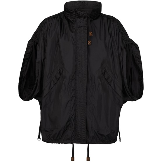 Louis Vuitton Parka With Gathered Sleeves In Black
