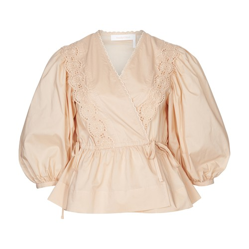 SEE BY CHLOÉ WRAP NECK BLOUSE