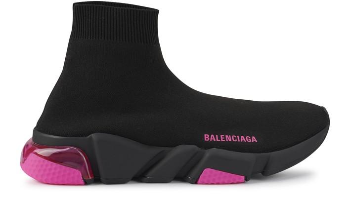 발렌시아가 스피드러너 여성용 - 클리어솔/블랙/핑크 Balenciaga Speed LT sneakers,blac/fluo.pink/black