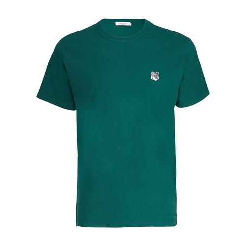Maison Kitsuné Fox Head Patch T-shirt In Dark Green