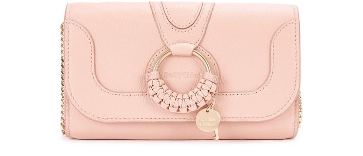 씨 바이 끌로에 See by Chloe Hana wallet with chain,fallow pink